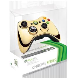 Xbox 360 Wireless Controller Chrome Gold / Беспроводной геймпад (Оригинальный)