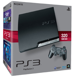 Sony PlayStation 3 (PS3 Slim) 320 Gb + 10 Игр (С витрины)