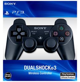 Купить беспроводной черный геймпад DualShock 3 для PS3 в Украине