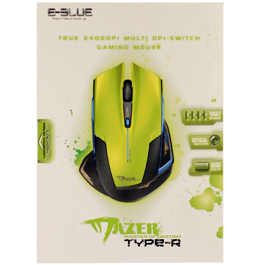 Игровая мышь E-Blue Cobra Mazer Type-R Green