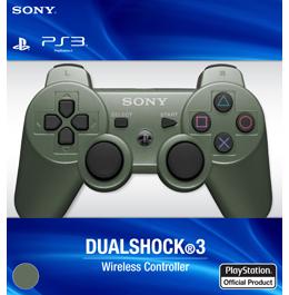 Купить беспроводной зеленый геймпад DualShock 3 для PS3 в Украине