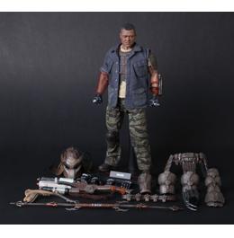 HOT TOYS Predators: Noland 1/6th Scale Collectible Figure / Фигурка Ноланда из фильма «Хищники»