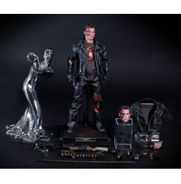 HOT TOYS Terminator 2: Judgment Day T-800 (Battle Damaged Ver.) 1/6th Scale Collectible Figure / Фигурка Терминатора из фильма «Терминатор 2»