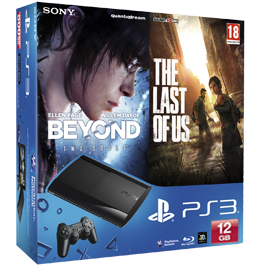 Sony PlayStation 3 (PS3 Super Slim) 12 Gb + The Last of Us «Одни из нас» + Beyond: Two Souls «За Гранью: Две Души»