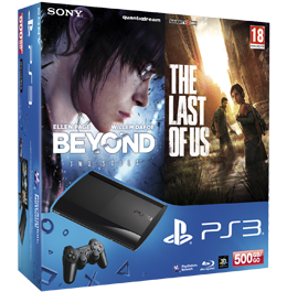 Sony PlayStation 3 (PS3 Super Slim) 500 Gb + The Last of Us «Одни из нас» + Beyond: Two Souls «За Гранью: Две Души»