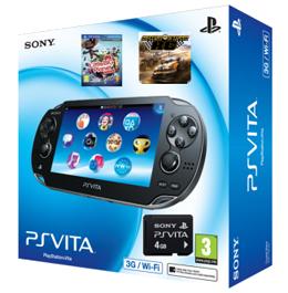 PS Vita Wi-Fi + 3G + LittleBigPlanet + Motor Storm RC + 4GB Memory Card